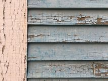 Cracked Paint Texture Post and Siding Royalty Free Stock Photo