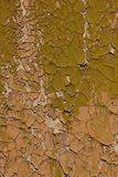 Cracked paint on wooden background texture Stock Photo