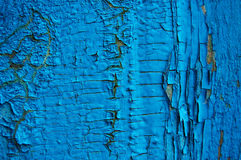 Cracked paint on a wooden wall. Stock Images