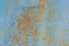 Cracked painted old metal texture. Old blue color paint texture Stock Image