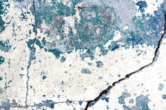 Cracked Painted Plaster Royalty Free Stock Images
