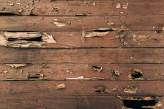 Cracked painted wood surface. Background Royalty Free Stock Photography