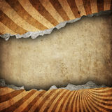 Cracked paper with retro pattern Royalty Free Stock Photos