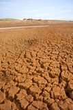 Cracked parched earth with fort Royalty Free Stock Images