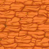 Cracked pattern of orange earth, seamless texture desert soil Royalty Free Stock Photography