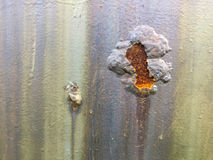 Cracked and peeled metal with rust texture Stock Photos