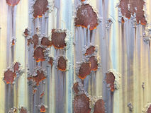 Cracked and peeled metal with rust texture Royalty Free Stock Photography
