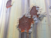 Cracked and peeled metal with rust texture Stock Photo