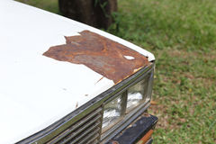 Cracked and peeling paint of an old car. Peeling paint of an old car Royalty Free Stock Photos