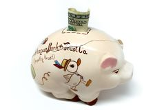 Cracked Piggy Bank Stock Images