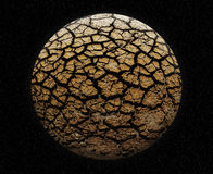 Cracked planet Stock Photo
