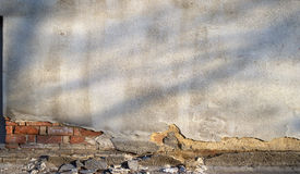 A cracked plaster wall Royalty Free Stock Photos
