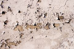 Cracked Plaster Wall Surface Royalty Free Stock Photography