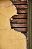 Cracked Plastered Wall Stock Image