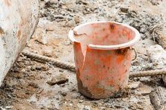 Cracked plastic bucket Stock Photos