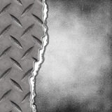 Cracked plate on grunge background Royalty Free Stock Images