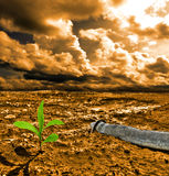 Cracked pollution ground Royalty Free Stock Photography