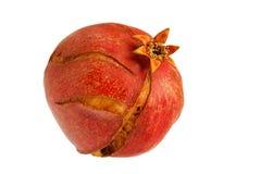 Cracked Pomegranate on White Background. Cracked pomegranate isolated on white background Royalty Free Stock Photo