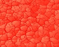 Cracked red Royalty Free Stock Photography