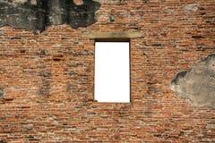 Cracked red brick wall Royalty Free Stock Photos