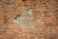 Cracked red brick wall Stock Photography