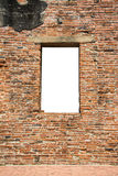 Cracked red brick wall Royalty Free Stock Image
