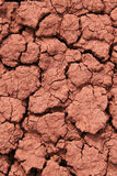 Cracked red ground. With bentonite clay rich soil royalty free stock photos