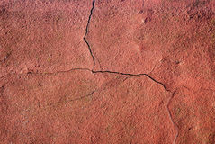 Cracked Red Wall Royalty Free Stock Image