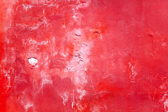 Cracked red wall Royalty Free Stock Photos
