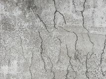 Cracked  reinforced concrete in a slab surface. Cracked reinforced concrete on a surface due to shrinkage in the curing process stock images