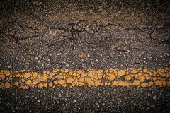 Cracked road Royalty Free Stock Photos