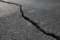 cracked road Stock Image