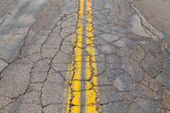 Cracked Road Stock Photography