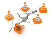 Cracked road. Computer generated image. 3d render vector illustration