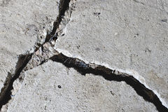 Cracked road concrete close up Royalty Free Stock Image