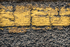 Cracked Road Marking Stock Images