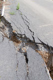 Cracked road Stock Photos