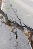 Cracked road Stock Photos