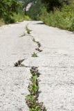 Cracked Road. Taken near Agios Georgios, Corfu, Greece royalty free stock image