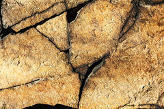 Cracked rock nature background Stock Images