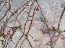 Cracked Rocks  Royalty Free Stock Image