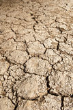 Cracked rough ground. For background Royalty Free Stock Images