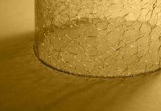 Cracked round glass Royalty Free Stock Photos