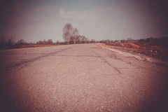 Cracked Rural Road Filtered Stock Image