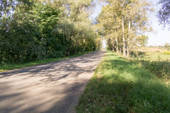 Cracked Rural Road. Old cracked, damaged asphalt road in countryside Royalty Free Stock Photography