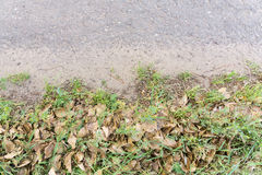 Cracked Rural Road. Old cracked, damaged asphalt road in countryside Royalty Free Stock Images