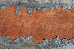 Cracked rusty metal background. Closeup Royalty Free Stock Image