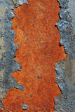 Cracked rusty metal surface. Cracked and rusty metal surface closeup Royalty Free Stock Photos