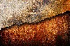 Cracked rusty metal texture Stock Photography