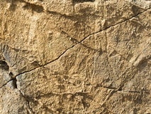 Cracked sand wall Royalty Free Stock Photography